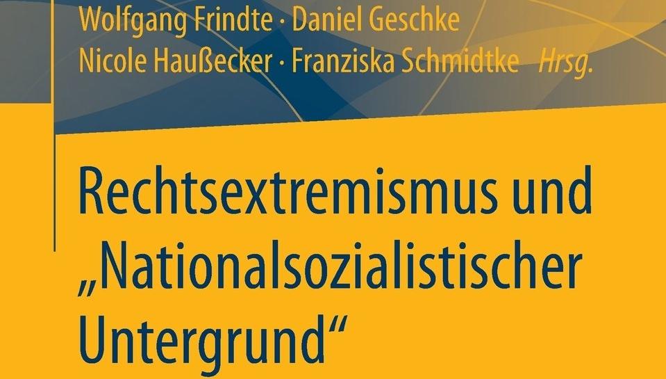"""Obere Hälfte des Buchcovers """"Rechtsextremismus und """"Nationalsozialistischer Untergrund"""""""""""