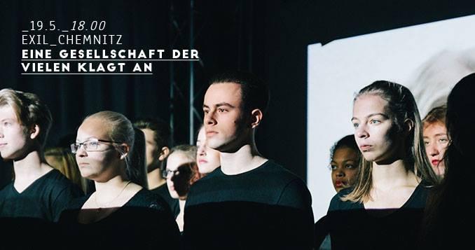 Werbebild 19.05. 18.00 Uhr im Exil Chemnitz: Eine Gesellschaft der Vielen klagt an