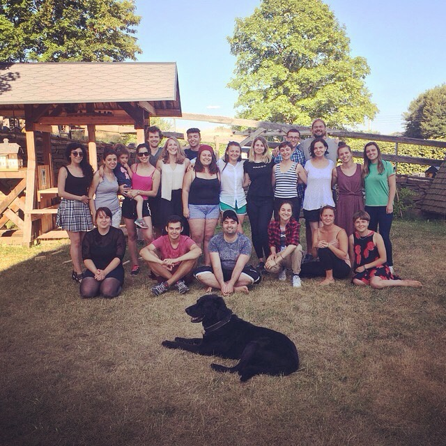 Gruppenfoto im Freien des Impulse Boost Camps 2018