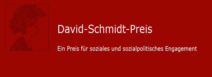 Logo David-Schmidt-Preis - Ein Preis für soziales und sozialpolitisches Engagement