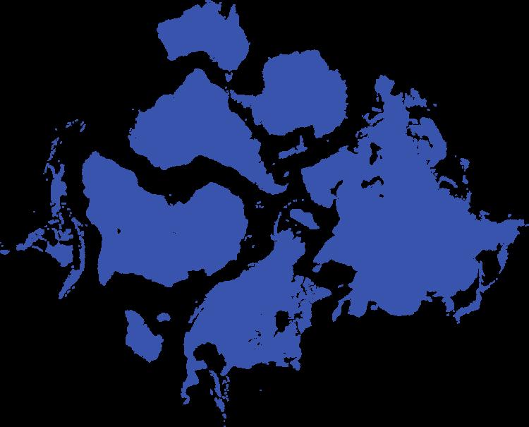 Umrisse der Kontinente